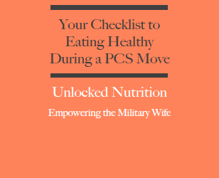 Nutrition While PCSing…