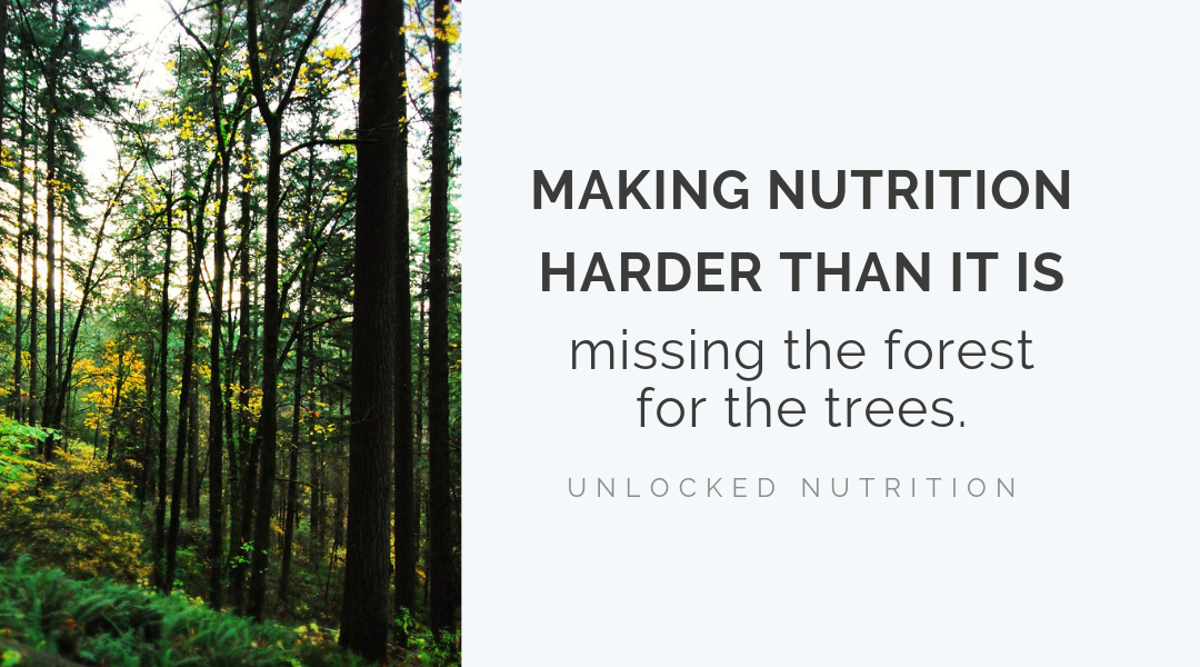 Making health harder than it is – missing the forest for the trees